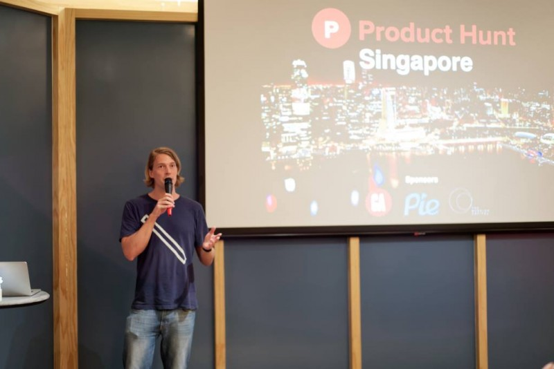 Pieter from Pie at Product Hunt Meetup Singapore