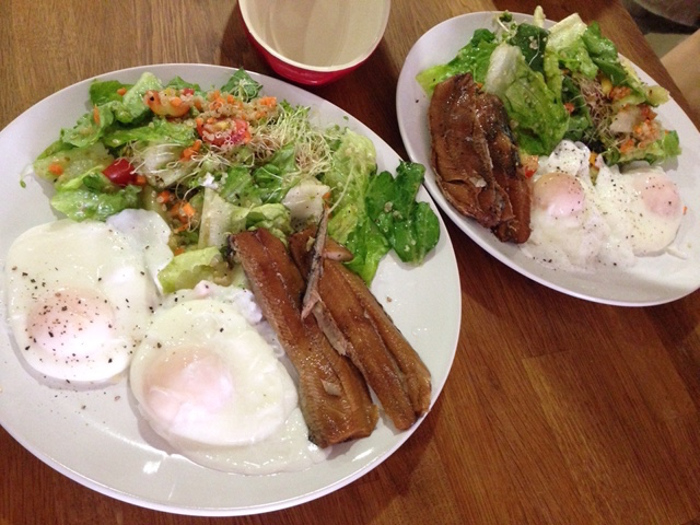Kippers and poached eggs