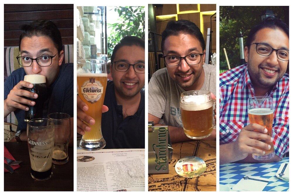 Beer tour through Europe