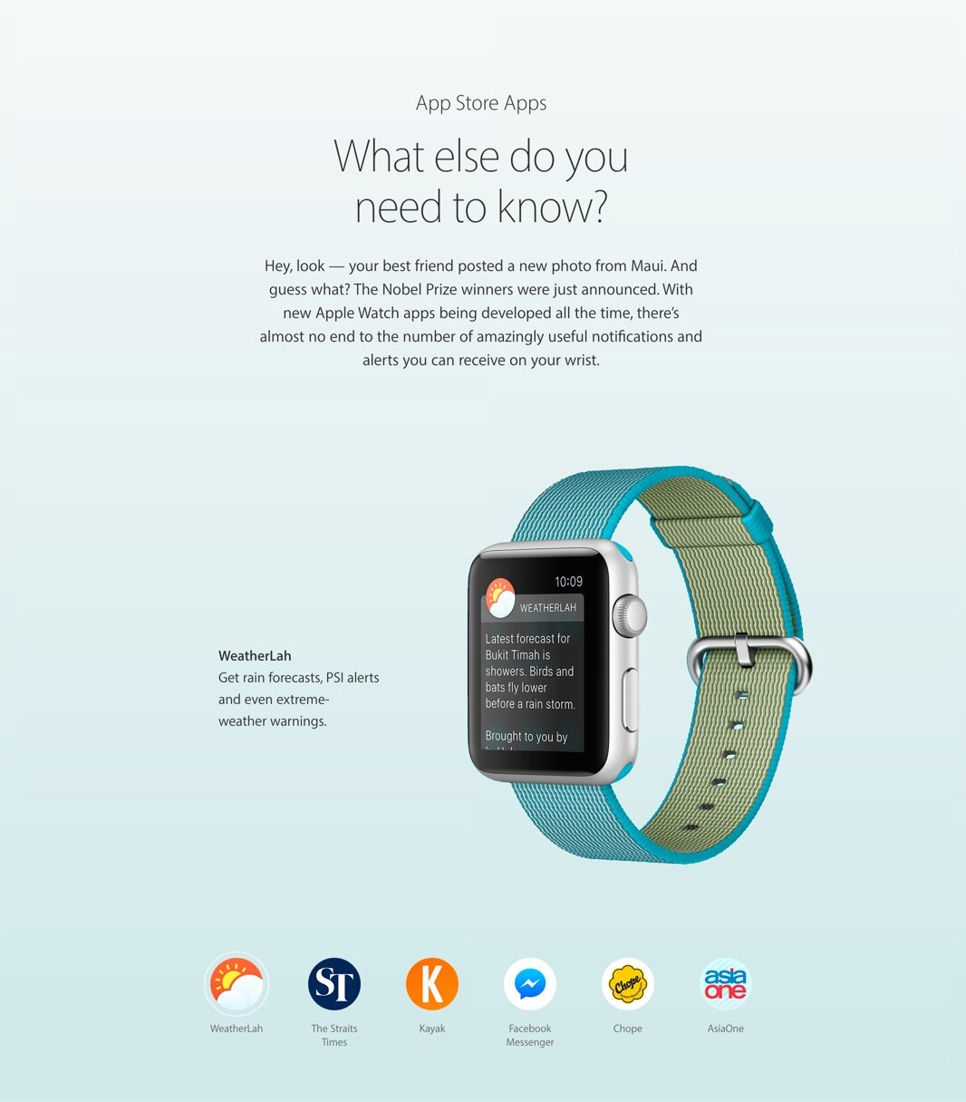 Weatherlah Featured on the Apple Watch Page