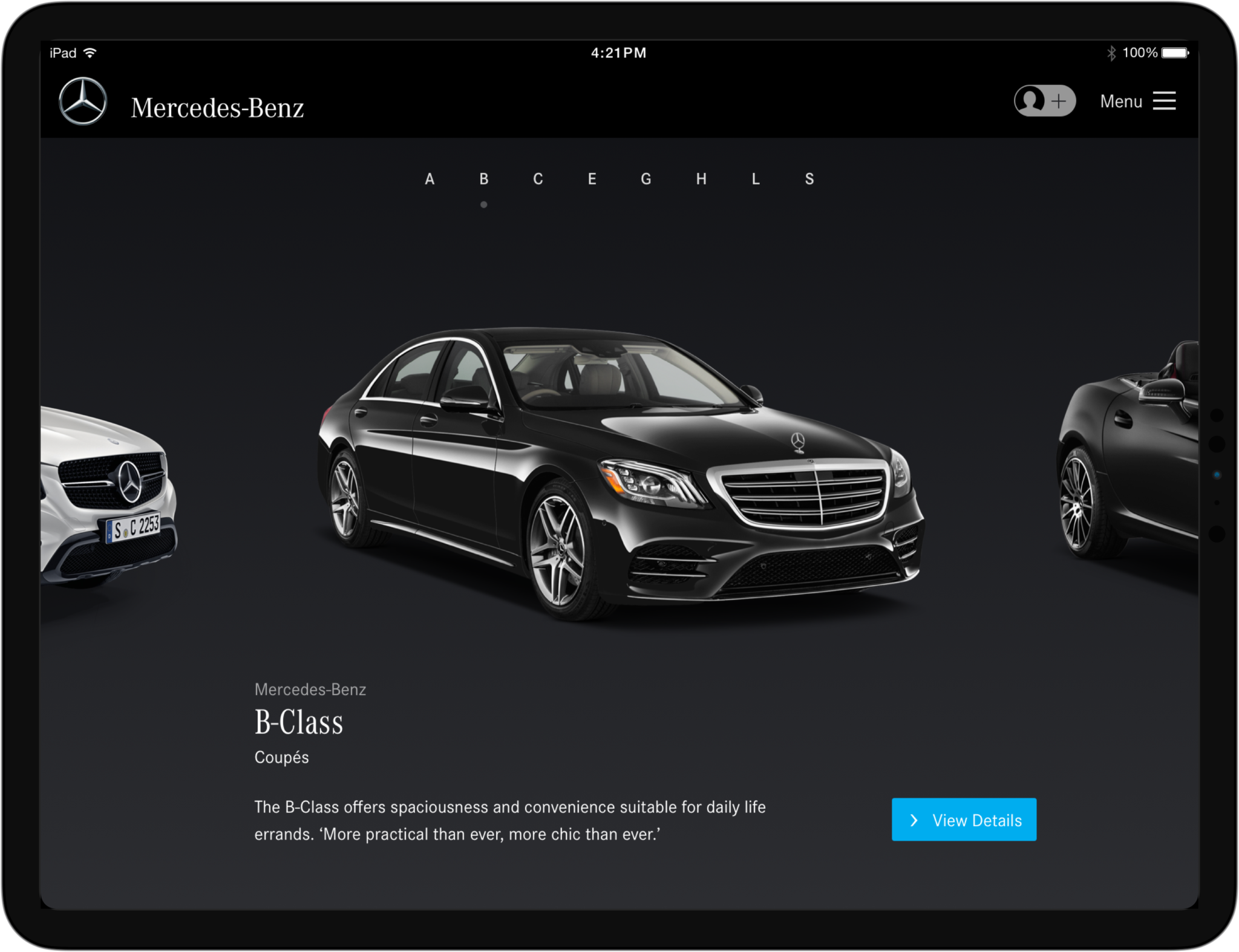 Daimler Main Menu
