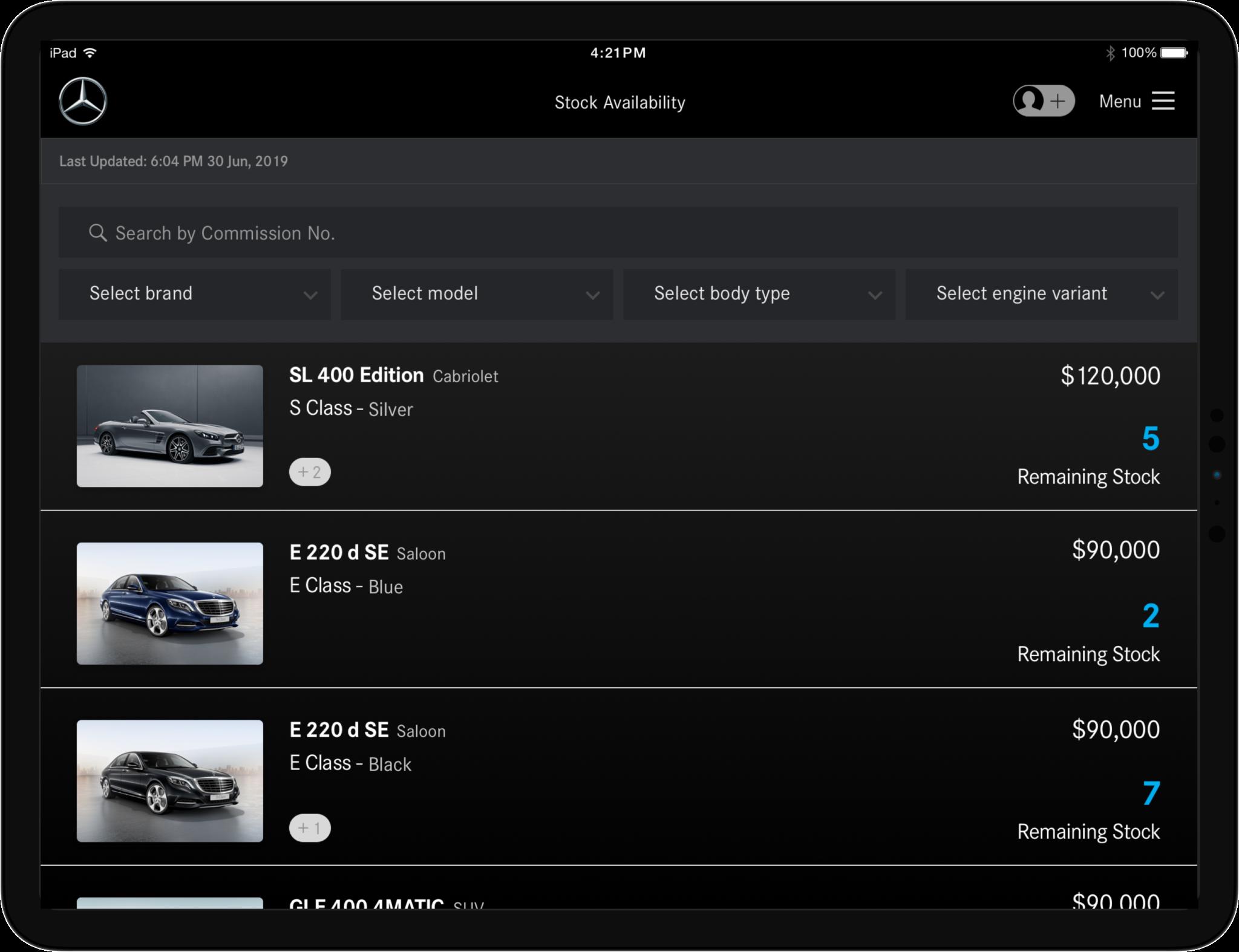 Daimler Vehicle Availability