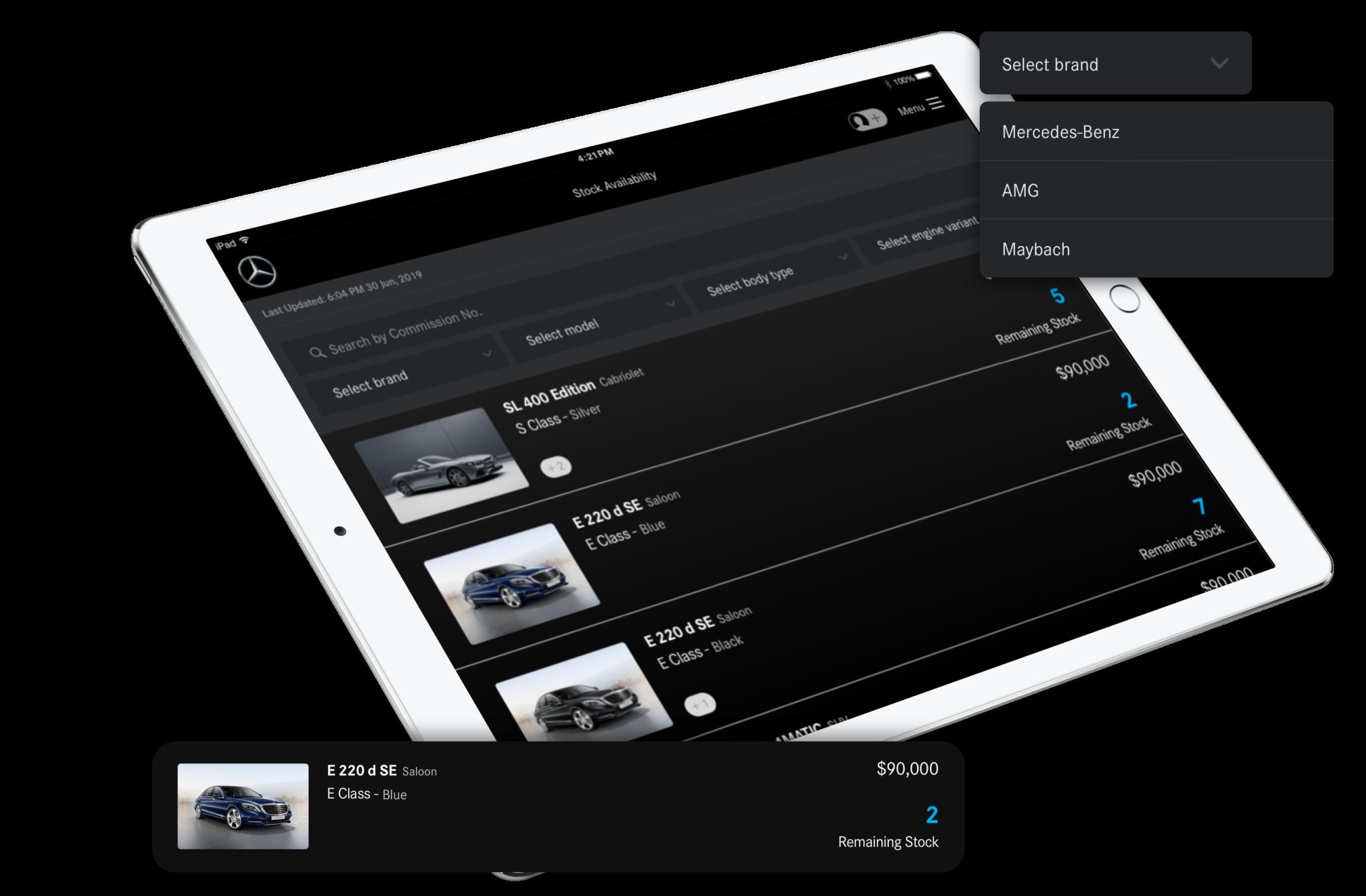Daimler Stock Availability