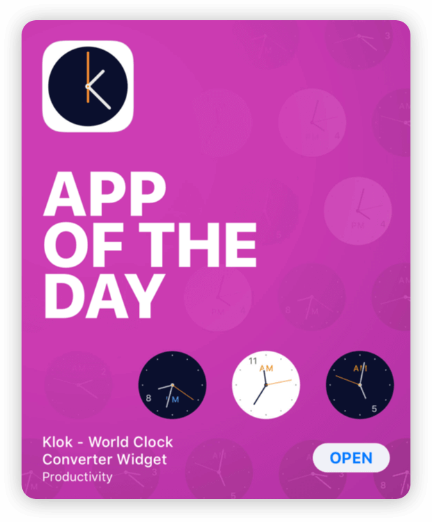 Klok App Of The Day Thumbnail