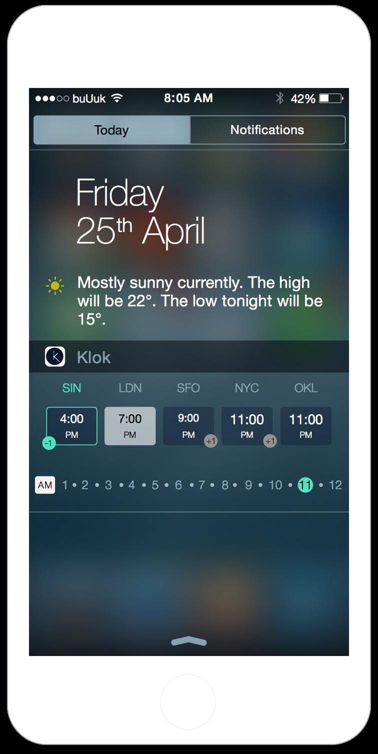 Klok Screenshot Digital